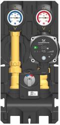 Groupe de robinetterie prémonté pour circuits de chauffage