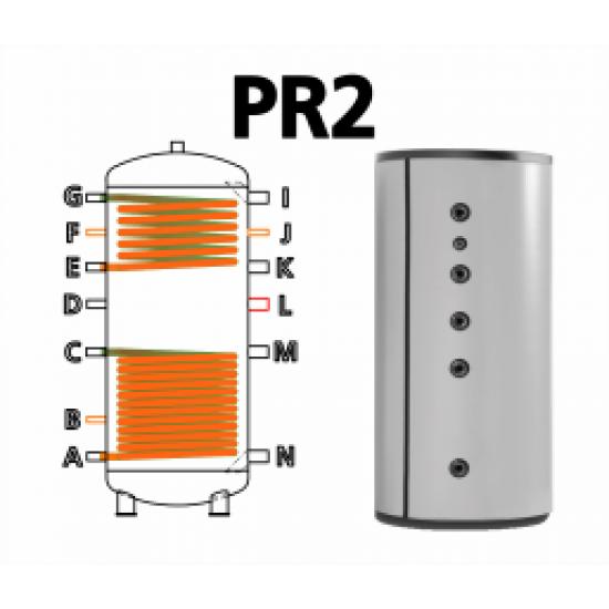 Ballon tampon TWL PR2-1000, double échangeur( registres tubulaires), 1000 Litres