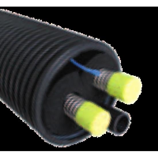 Flexiterra inox PAC 40 DN32 longueur 10 m, système de tuyau enterré pour pompe à chaleur monobloc air/eau extérieur
