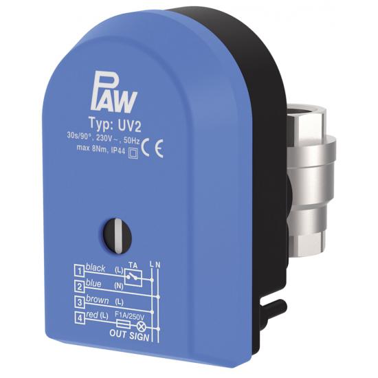 Vanne à passage UV2 avec servomoteur DN 20