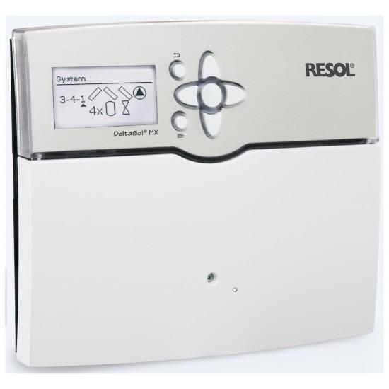 <strong>DeltaSol® MX</strong> - Offre complète Régulateur conçu pour les systèmes de chauffage conventionnel et solaire 6 sondes Pt1000 (2 x FKP6, 4 x FRP6) incluses option DrainBack