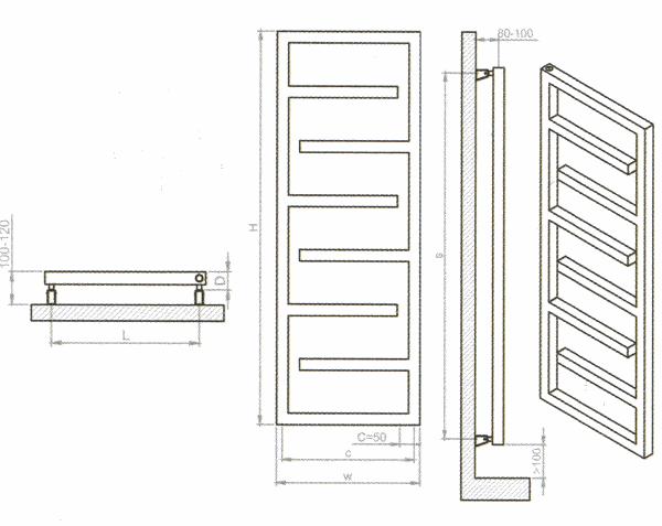 radiateur s che serviettes inox. Black Bedroom Furniture Sets. Home Design Ideas